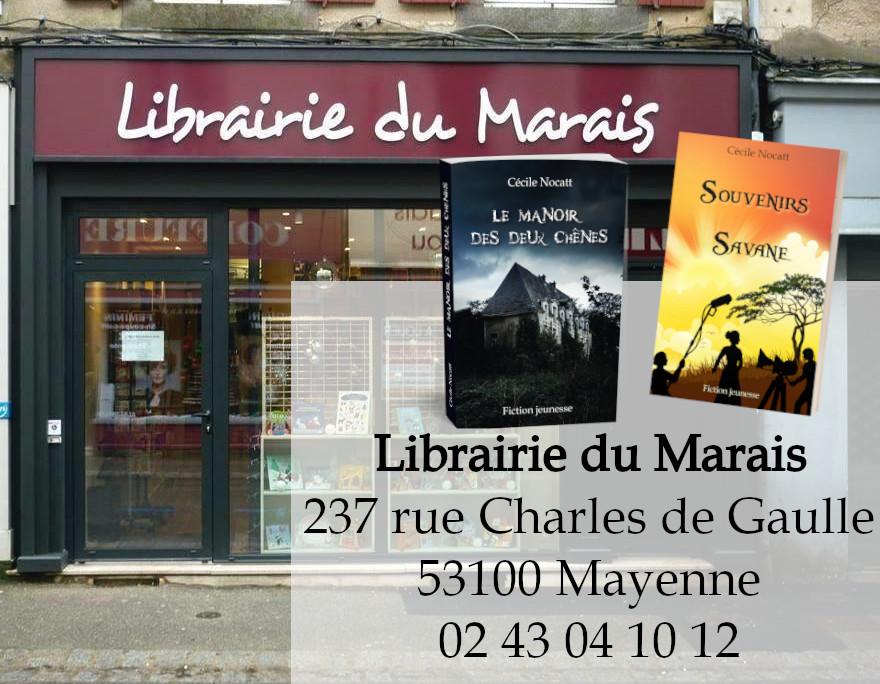 Les romans à la librairie du Marais
