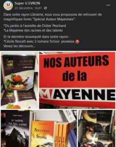 Les romans au Super U d'Evron !